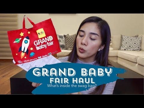 Grand Baby Fair 2018 Haul   Swag Bag   Nanay Mara