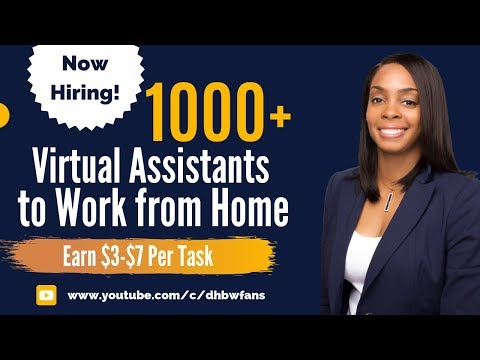 1000+ Work From Home Virtual Assistants Needed - No Experience