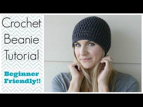 How To Crochet Beanie Tutorial