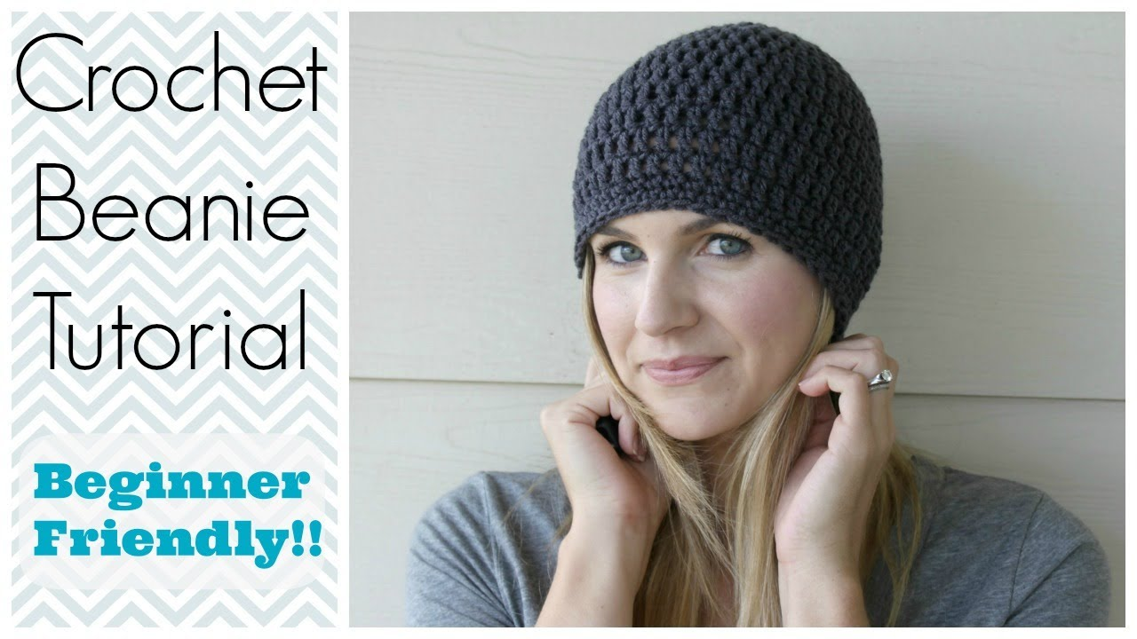 Crochet Baby Hat Tutorial Step By Step : How to Crochet a Beanie Tutorial - Beginner Friendly - YouTube