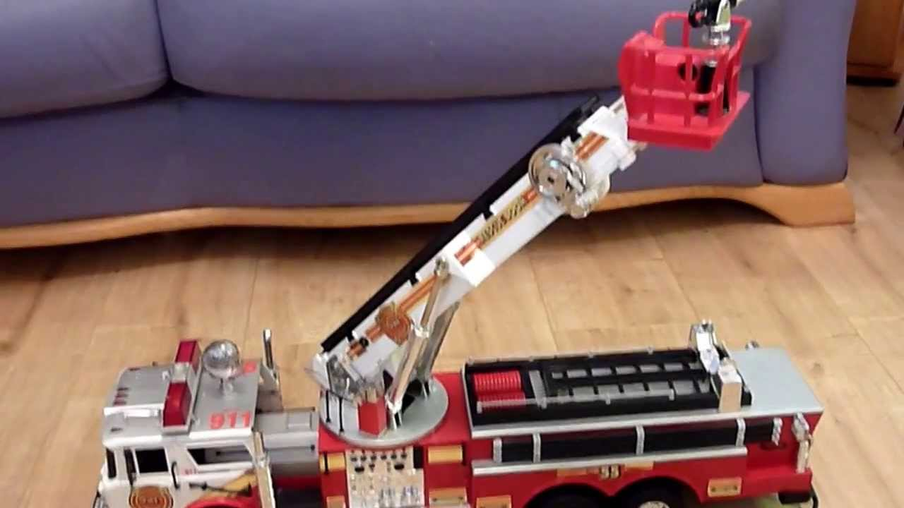 911 american fire truck new bright 1988 youtube