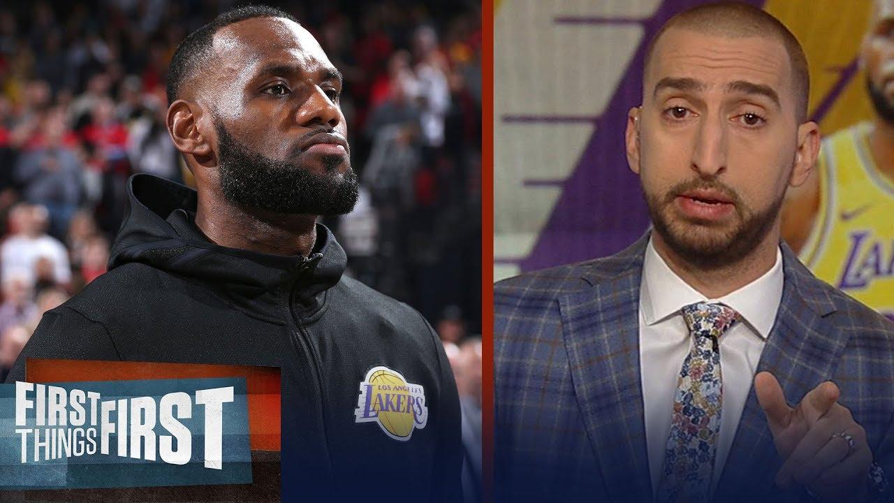 8eb6791c5ef Nick Wright breaks down LeBron s Lakers debut