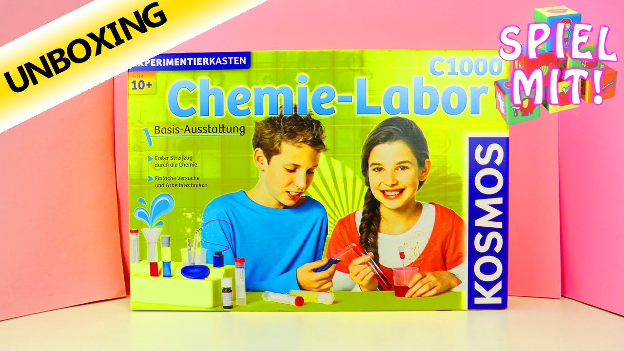 kosmos chemie labor c1000 experimentierkasten f r kinder unboxing deutsch 128 experimente. Black Bedroom Furniture Sets. Home Design Ideas