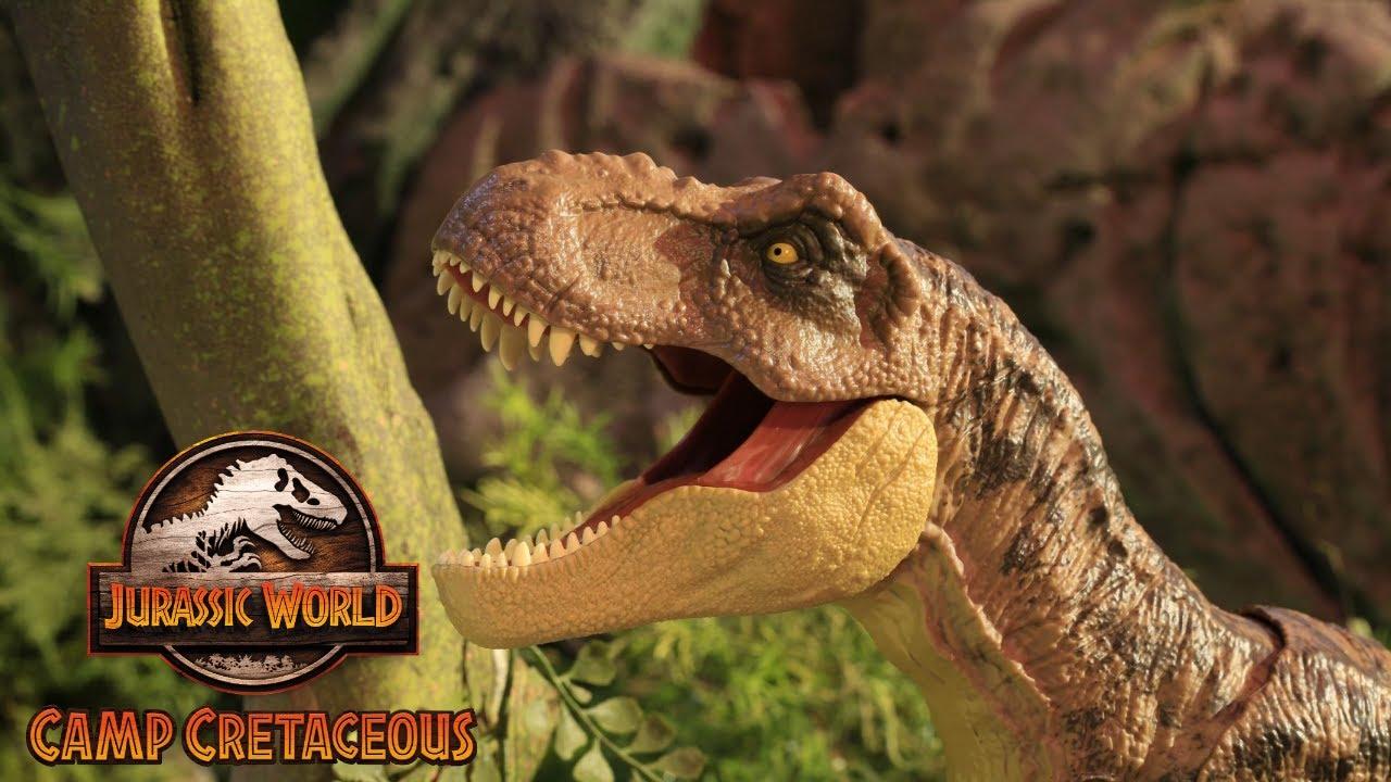 Camp Cretaceous Files: T.Rex Tear Down | Mattel Action!