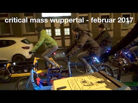 Critical Mass Wuppertal - Februar 2017