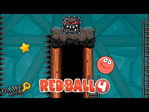 Красный Шарик и Подземные Ходы! Мульт ИГРА Red Ball 4