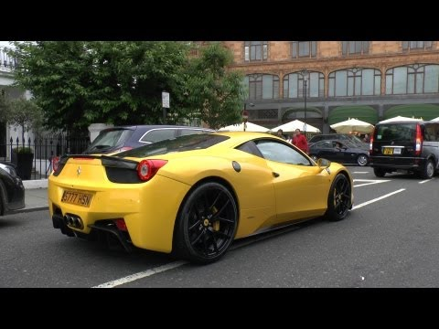 Novitec Ferrari 458 Italia LOUD REVS in London!!