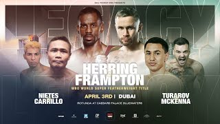 LIVE! - JAMEL HERRING v CARL FRAMPTON *MAIN EVENT*  (WBO WORLD TITLE)  MAIN EVENT / D4G PROMOTIONS