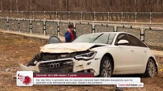 Darende´de trafik kazası: 3 yaralı