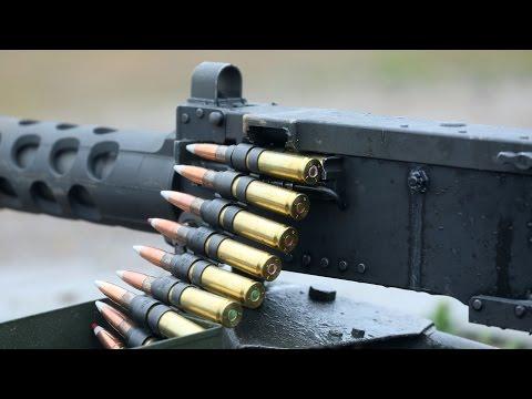 Military Training  - Shooting with Great M2 .50 Cal Machine Gun