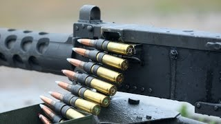 Awesome Shooting with Great M2 .50 Machine Guns in Action