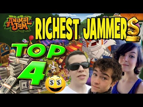 THE TOP 4 RICHEST ANIMAL JAM YOUTUBERS! #1 IS NOT WHO YOU THINK!