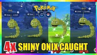 4x SHINY ONIX CAUGHT at BEST ONIX NEST in Pokemon Go! ( Back to Back Shiny Onix )