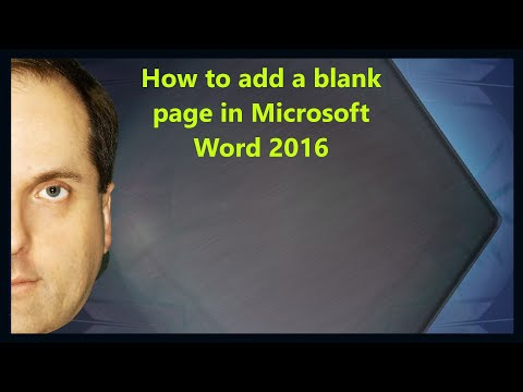 How To Add A Blank Page In Microsoft Word 2016