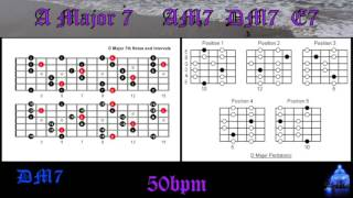acoustic guitar backing track in am7 how to improvise perfect solos over chord progressions 50bpm