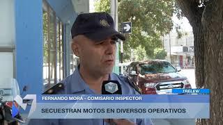 Secuestran motos en diversos operativos en Trelew