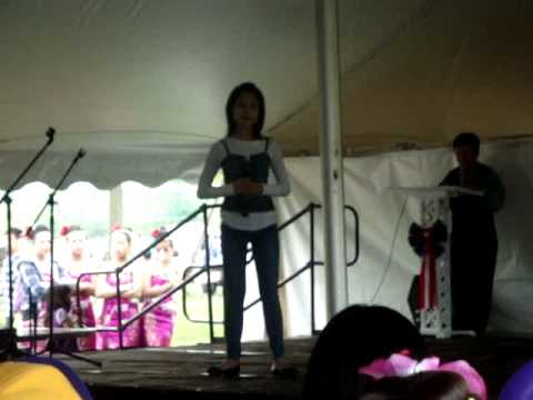 Pa Kou Lor - 3rd place singer for the Oshkosh Memorial Singing Competition