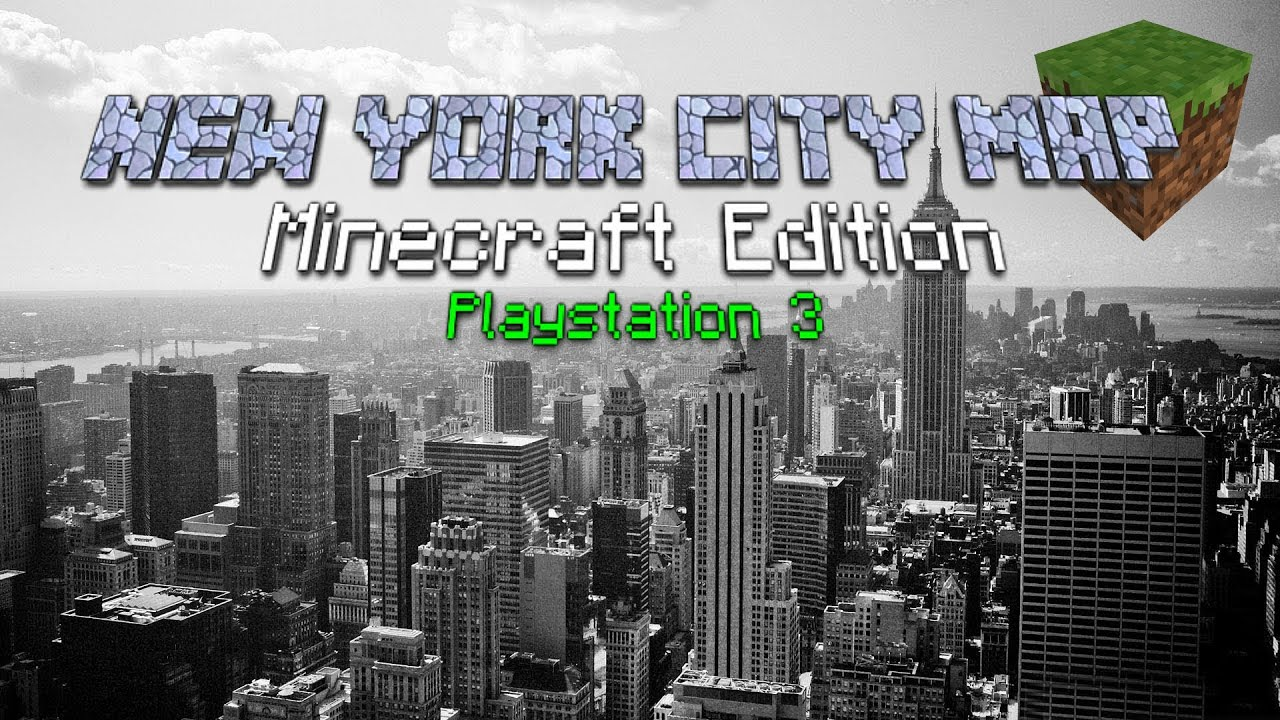 Minecraft Ps Edition  New York City Complete Map V HD YouTube - Nyc map minecraft