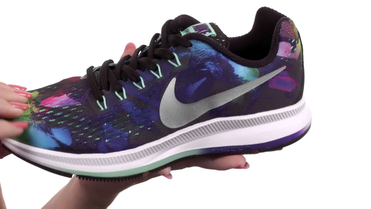 61c83ecf6e257 Nike Kids Zoom Pegasus 34 Print (Little Kid Big Kid) SKU 8844945 ...