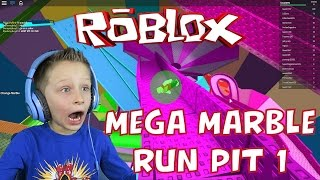 Roblox: I'M ROLLING IN A MARBLE #1 - Mega Marble Run Pit | KID GAMING
