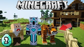 BAPAK GILA JADIIN MACAN UNTUK KURBAN DI MINECRAFT! - Minecraft Survival #2