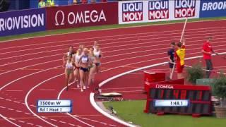 Чемпионат Европы по легкой атлетики. 1500 м 1 круг. Наталья Прищепа сошла
