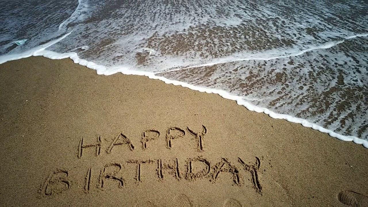 Hy Birthday Wishes At Beach