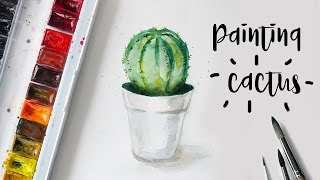 Painting Cactus with Watercolors