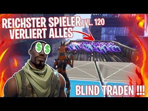 REICHSTER SPIELER VERLIERT ALLES?!  50.000 MALACHIT beim BLIND TRADEN!  - Fortnite Rette die Welt