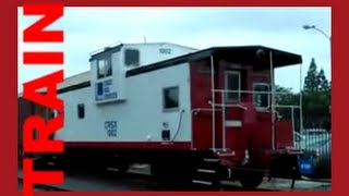 Trains For Children - Old Caboose Train On Display At The Fullerton Station