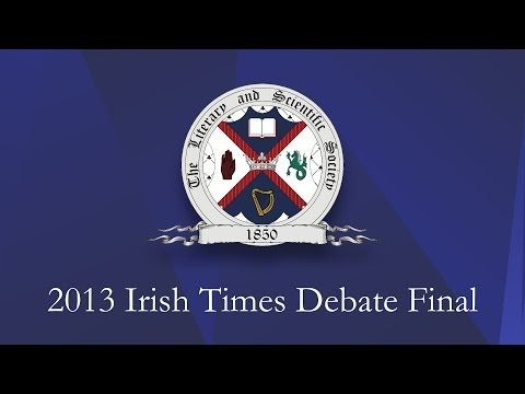 Irish Times Debate - Belfast 2013
