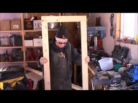 With The Lumber From Our Homemade Bandsaw Sawmill Came This Chicken Coop Door