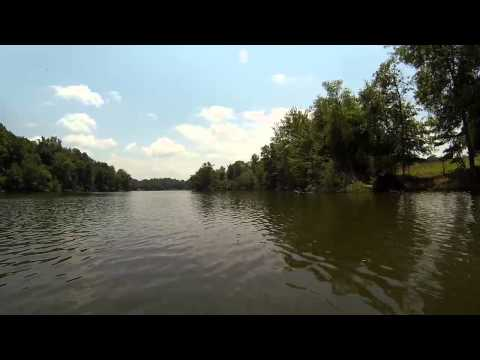 Lake Cunningham, Greer, South Carolina, USA by Canoe (Normal Speed)