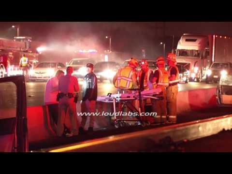 1Dead 3 Injured in Freeway Crash Hit & Run / Atwater Village    RAW FOOTAGE