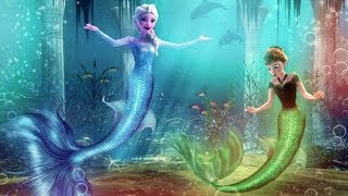 Frozen Mermaid Princess Elsa and Anna Puzzle Game for Little Kids