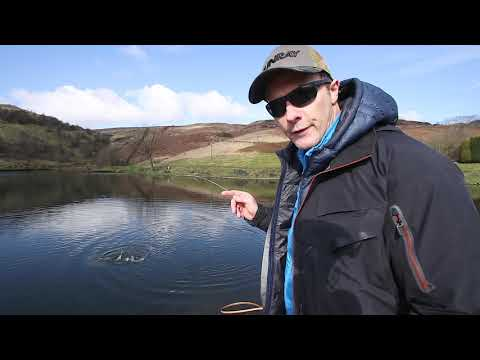 Fly Fishing For Rainbow Trout At Pennine Fishery