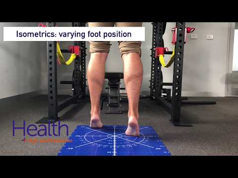 Calf isometrics for ankle sprain & calf injury | Melbourne Sports Chiropractor