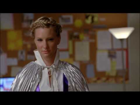 Glee - Superhero meeting and they discover somebody stole the nationals trophy 4x07