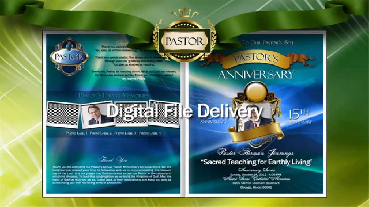 pastor anniversary program youtube