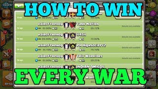 How to win Every war in Clash of Clans !
