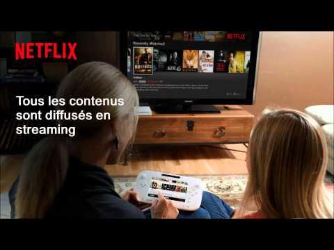 Netflix Wii U FR  Premier coup d''œil sur l'appli Netflix Wii U