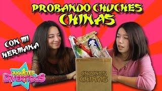 PROBAMOS DULCES CHINOS RAROS!!!! Pruebo chuches Chinas con mi hermana!!!