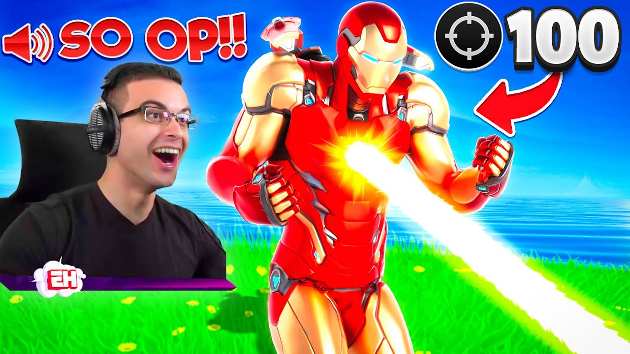 Eliminating 100 players in UNDER 1s with Iron Man's Unibeam!