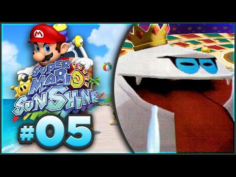 Super Mario Sunshine 100% Walkthrough | ALL Sirena Beach Shine Sprites! [Episode 5 🔴LIVE]