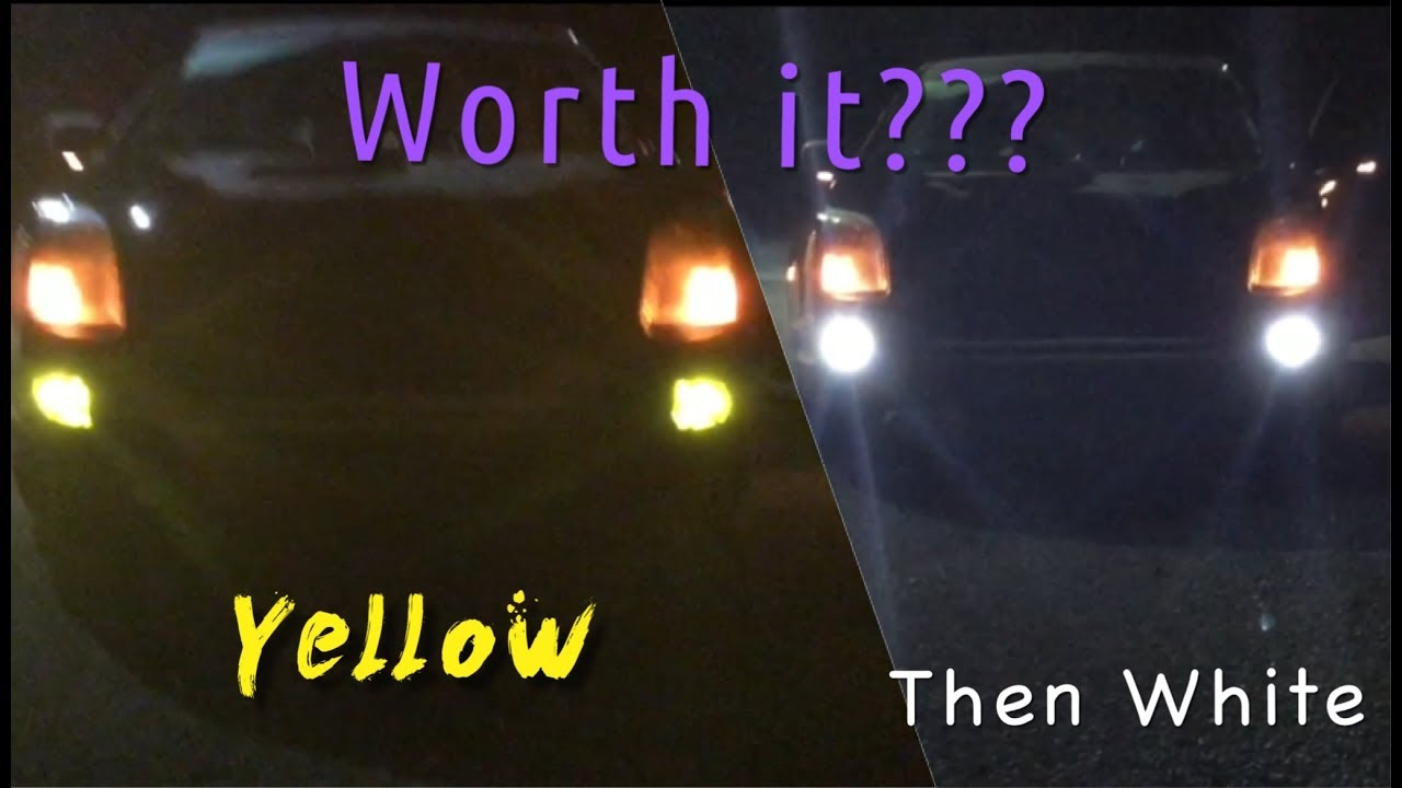 DUAL COLOR (yellow & white) Led Fog light Review