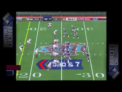 Michael Strahan sacks Tom Brady in Superbowl 42