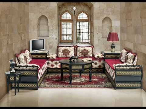 le salon marocain dans toute sa splendeur youtube. Black Bedroom Furniture Sets. Home Design Ideas