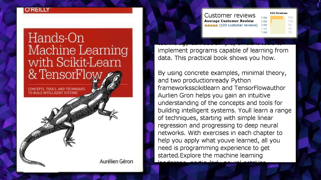 Hands-On Machine Learning with Scikit-Learn and TensorFlow: Concepts,  Tools, and Techniques to Buil