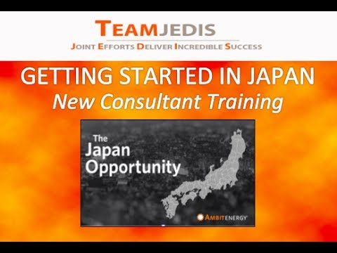 Getting Started in Japan New Consultant Training prelaunch