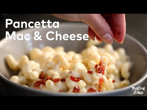 Pancetta Mac Cheese Cooking Tasting Table Youtube